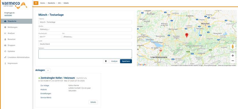 varmeco management server